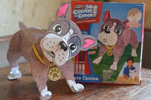 Rose Art 3d Create N Color Cute Canine Corrugate Dog