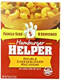 Hamburger Helper Pasta, Double Cheeseburger Macaroni, 9.8 Ounce (Pack of 6)