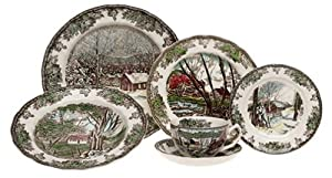 Johnson Brothers Friendly Village 28-Piece Dinnerware Set, Service for 4
