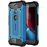 Cubix Impact Hybrid Armor Defender Case For Motorola Moto G4 Plus (Blue)