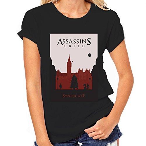 Assassin's Creed Syndicate-Maglietta classica da donna nero XXL