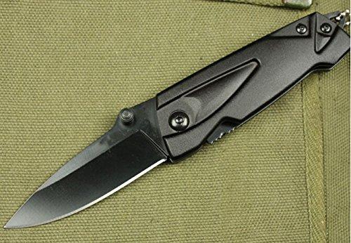 Black Outdoor Rescue Glass Breaker Folding Pocket Knife 320-5.98''