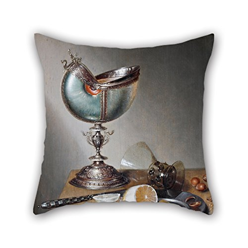 20 X 20 Inches / 50 By 50 Cm Oil Painting Marten Boelema De Stomme - Still-Life With Nautilus Cup Throw Pillow Case ,double Sides Ornament And Gift To Divan,saloon,home Office,lover,deck Chair,bar