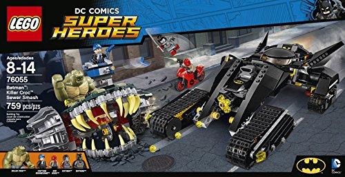 LEGO Super Heroes 76055 Batman: Killer Croc Sewer Smash Building Kit (759 Piece) at Gotham City Store