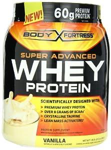 Body Fortress Super Advanced Whey Protein Powder Vanilla,  1.95 LB