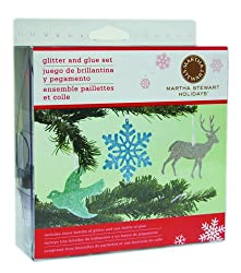 Martha Stewart Crafts - Holiday - Glitter Assortment - 3 Piece Set with Glue - Wintery