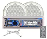 Dual AMCP600W Marine AM/FM/MP3/WMA CD Receiver with Pair of 6.5-Inch Dual Cone Speakers