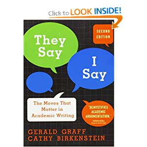 Download ebook They Say, I Say: The Moves That Matter in Academic Writing