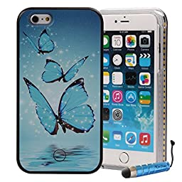 iPhone 6S Plus Case Bright, KooJoee® Hard PC [LED Light UP] Luminous Selfie Facetime Nice Rechargeable Back Case for iPhone 6 Plus/ 6S Plus (Arrogant Butterfly)
