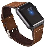 Apple Watch Series 1, Series 2, Edition Echt Leder Armband OKCS Uhrenband + 1 x Connector schwarz...