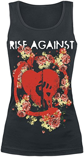 Rise Against Roses Top donna nero S
