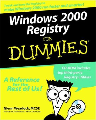 Windows 2000 Registry for Dummies