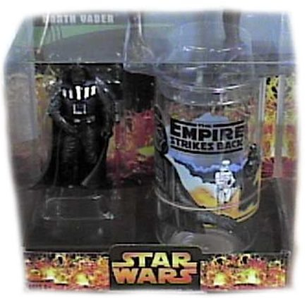 Star Wars Revenge of the Sith (Rots) Exclusive Darth Vader Figure and Cup Set. - 1