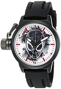 Marvel Spider-Man Men's W002527 Spider-Man Analog Display Analog Quartz Black Watch