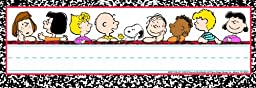 Eureka Peanuts Classic Characters Name Plates, includes 36 tented name plates, measuring 9.62\