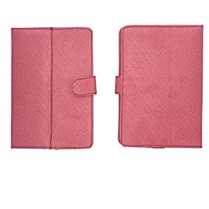Jo Jo G2 Silver Dotted Flip Flap Case Cover Pouch Carry For Plum Link Plus Pink