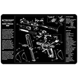 TekMat 11-Inch X 17-Inch Handgun Cleaning Mat with Smith and Wesson MandP Imprint, Black
