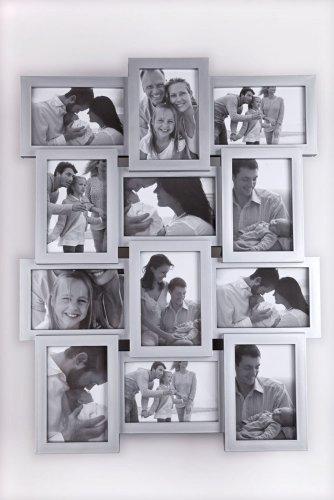 bilderrahmen 12 fotos 3d optik silber ean. Black Bedroom Furniture Sets. Home Design Ideas
