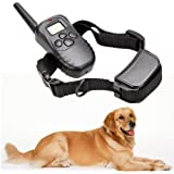 docooler Rechargeable Waterproof 300M 100LV LCD Remote Dog Pet Training Collar Shock Vibrate for 1 Dog
