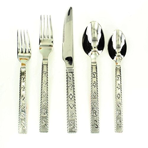 M&F Western Flatware Set Branded Silver 94404