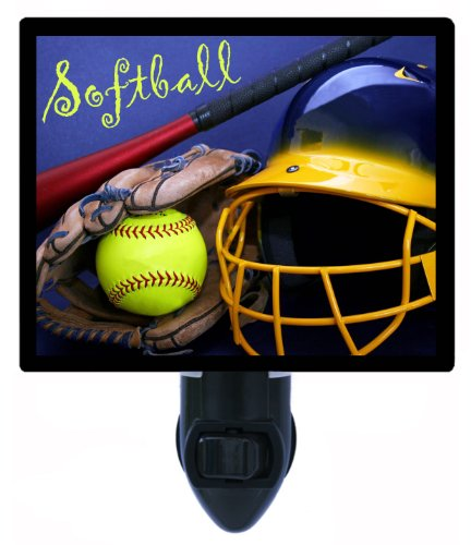Sports Night Light - Softball