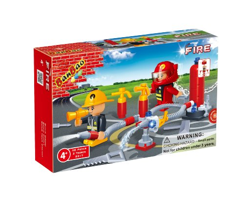 BanBao Fireman Toy Building Set, 58-Piece - 1