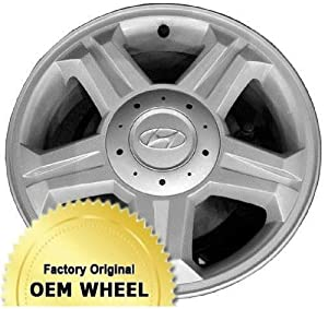 HYUNDAI TIBURON 16X6.5 5 SPOKE Factory Oem Wheel Rim- SILVER – Remanufactured