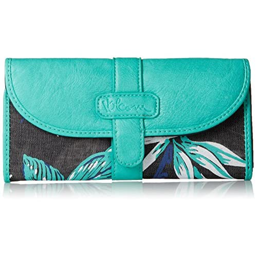 Volcom Juniors Armed N Ready Wallet, Black Floral, One Size