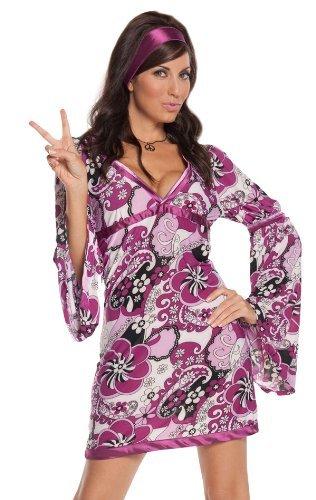 [Elegant Moments Women's Vintage Vixen, Paisley Print, Small] (Vintage Paisley Print Costumes)
