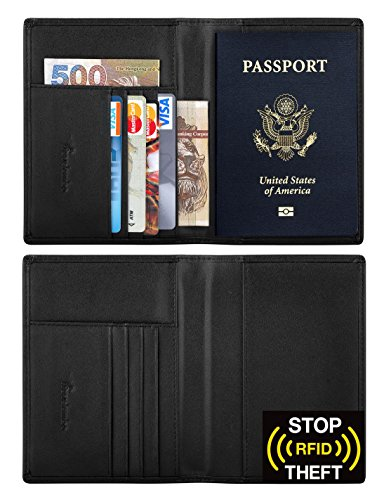 Travelambo-RFID-Blocking-Genuine-Leather-Passport-Holder-Wallet-in-7-Colors