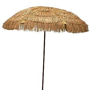 EasyGo 6 5 39 Thatch Patio Umbrella