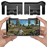 PUBG Mobile Game Controller, ELM Game Joystick Smart Phone Tablet Gaming Trigger [Upgrade Version] for PUBG/Fortnite/Rules of Survival, Cell Phone Gaming Joysticks for Android iOS(1 Pair)-Black