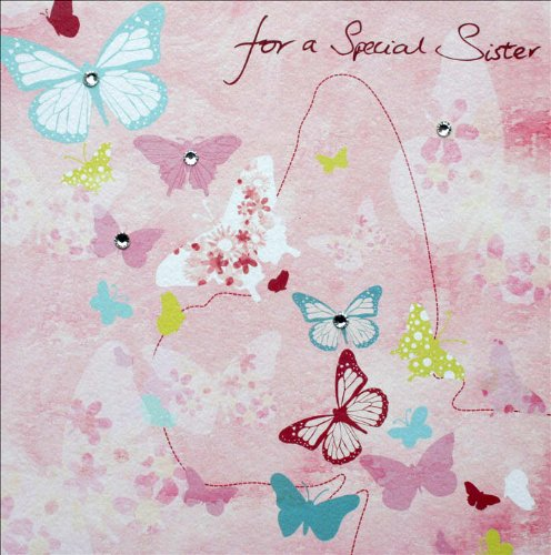 Special Sister Birthday Card - Hand Finished