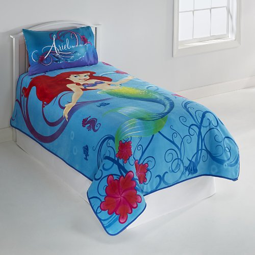 Good Disney Little Mermaid Micro Raschel Blanket Twin x