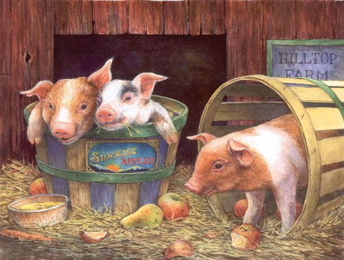 Three Pigs a 500-Piece Jigsaw Puzzle by Sunsout Inc.