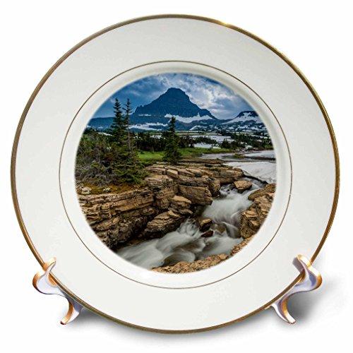 Danita Delimont - Glacier National Park - Snowmelt stream in Glacier National Park, Montana - 8 inch Porcelain Plate (cp_231115_1)