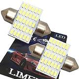 業界初!2016年最新 T10×31mm LED 30連の驚きの明るさ ルームランプ 白 6000-7000K 12-24V対応 2個セット / LIMEY(ライミー)