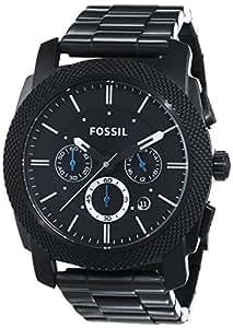 Fossil - FS4552 - Montre Homme - Quartz Analogique - Cadran Noir - Bracelet Acier Noir