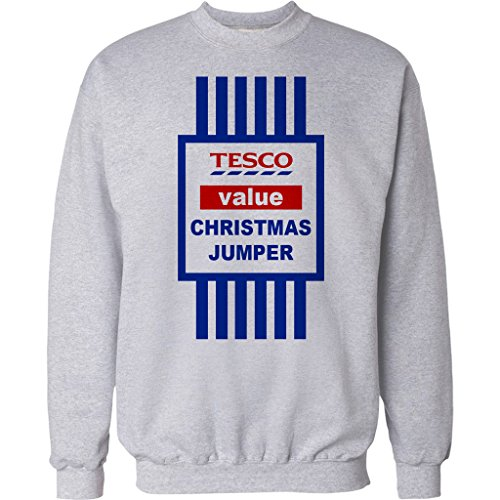 CHRISTMAS-JUMPER-SWEATER-MENS-FUNNY-TOPS-TESCO-VALUE-SWEAT-SHIRT-XMAS-GIFT-2015-UNISEX-TOP