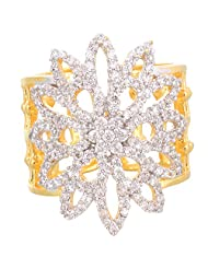 Creation Jewellery Gold Rodium Plated Gold Plated Clip-On Ring For Women - B00Z9UU7XQ