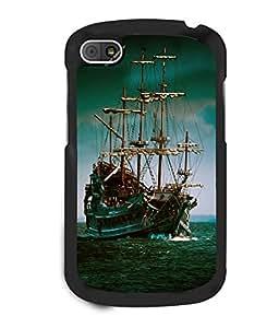 printtech POTC Black Pearl Ship Back Case Cover for BlackBerry Q10