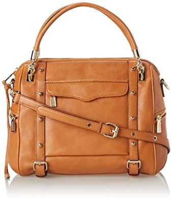 Rebecca Minkoff Cupid Leather Top Handle Bag,Almond,One Size