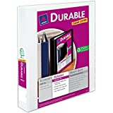 Avery Durable View Binder with 1.5-Inch Slant Ring, Holds 8.5 x 11-Inch Paper, White, 1 Binder (17022)