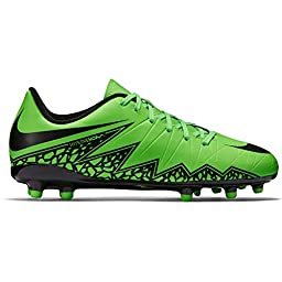Nike Youth Hypervenom Phelon II Firm Ground (GREEN STRIKE/BLACK) (2.5Y)