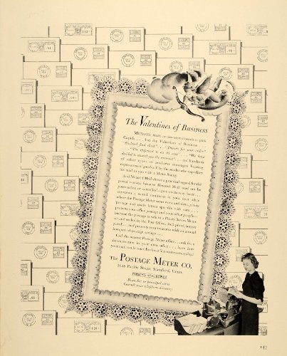 1939 Ad Postage Meter Post Stamp Stamford Mail Pitney - Original Print Ad