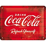 コカ・コーラ Coca-Cola - Logo Red Refresh Yourself / ブリキ看板 TIN SIGN