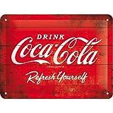 コカ・コーラ Coca-Cola - Logo Red Refresh Yourself / ブリキ看板 TIN SIGN