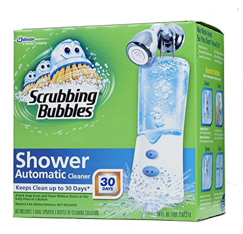 Introducing Scrubbing Bubbles ® Daily Shower Cleaner. No rinsing, wiping or scrubbing - nothing but the fresh scent of Rainshower. No rinsing, wiping or scrubbing - nothing but the fresh scent of Rainshower.