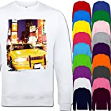 Yellow Taxi Cab In New York Times Square USA Unisex Adult Sweatshirt Sizes XS, S, M, L, XL, 2XL, 3XL