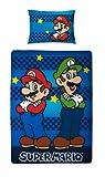 Character World 135 x 200 cm Nintendo Mario Brothers Single Panel Duvet Set, Multi-Colour